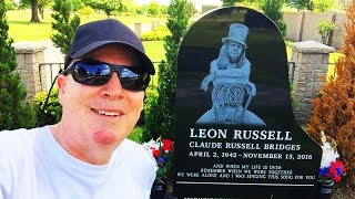 FAMOUS GRAVES-Visiting Music Legends Leon Russell & Roy Clark At Memorial Park Cemetery In Tulsa, OK