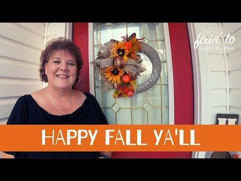 Fall Wreath & Bow Tutorial | Dollar Tree Fall Wreath DIY