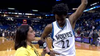 Andrew Wiggins Gets A Surprise After His Career High Performance