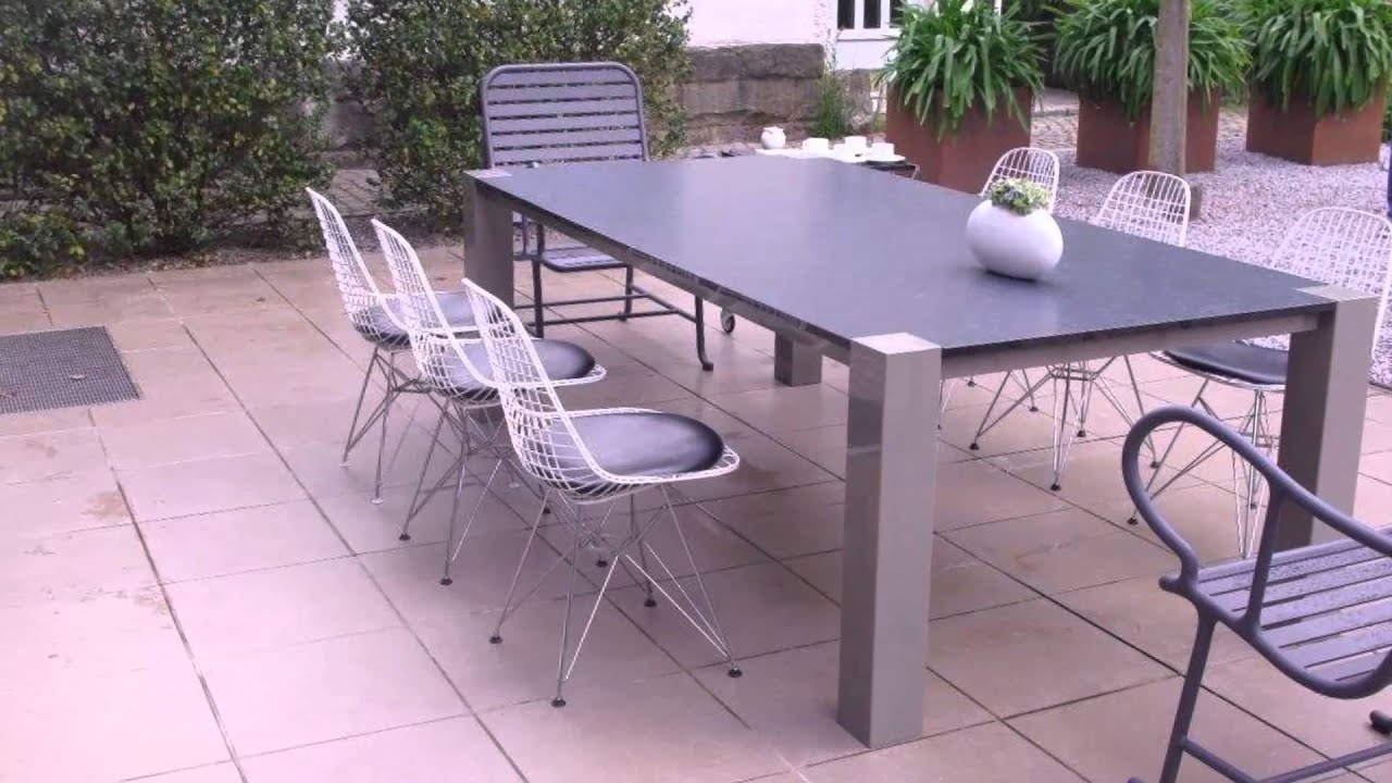 aruba gartentisch mit granit youtube. Black Bedroom Furniture Sets. Home Design Ideas
