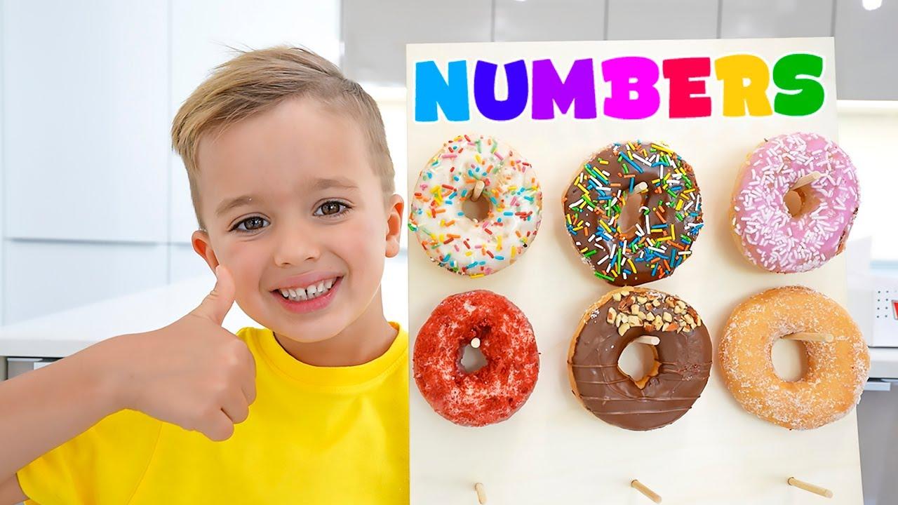 تعلم الأرقام من 1 إلى 10 مع فلاد ونيكي والطفل كريس