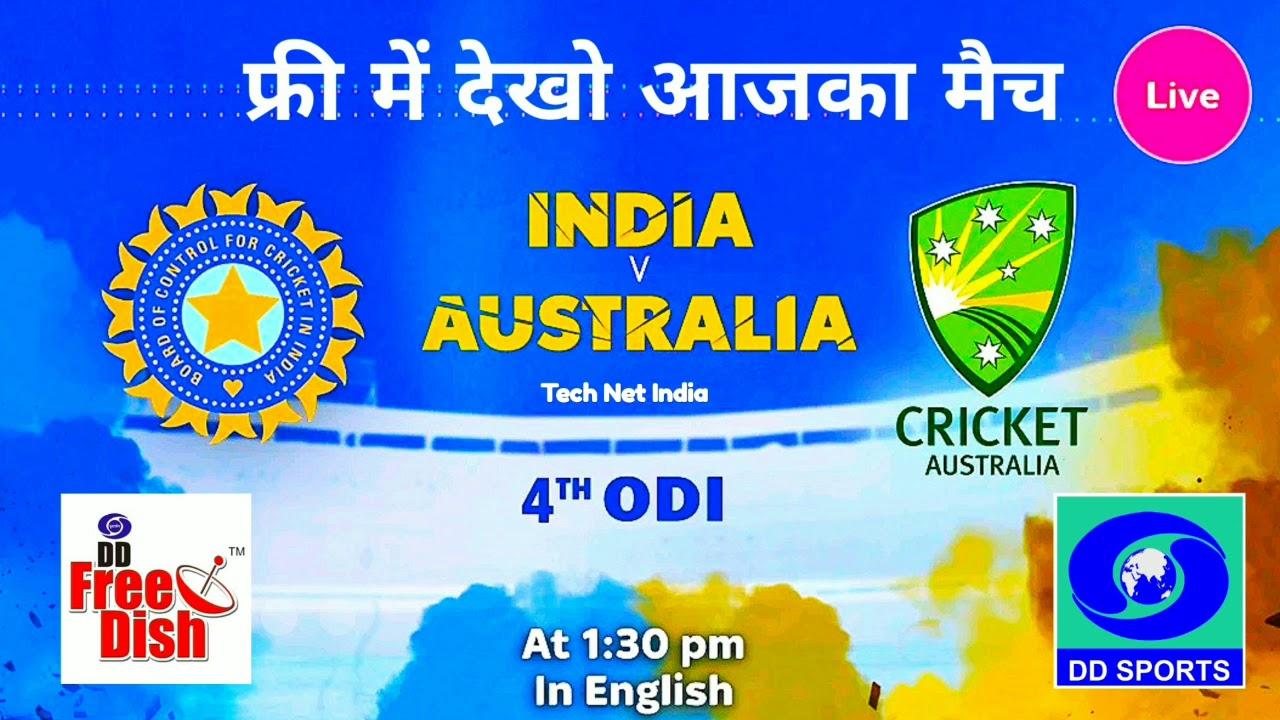 LIVE on DD Sports india vs australia 4th odi 2019