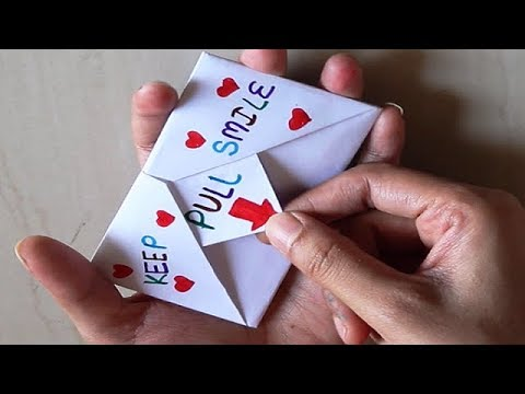 DIY - SURPRISE MESSAGE CARD | Pull Tab Origami Envelope Card