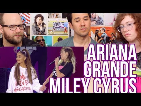 Ariana Grande & Miley Cyrus - Don't Dream it's Over - REACTION - One Love Manchester