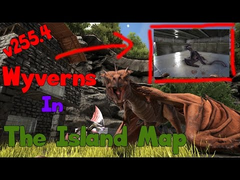 Wyverns in The Island Map, Hatch Wyvern Egg's, v255.4, ARK Survival Evolved