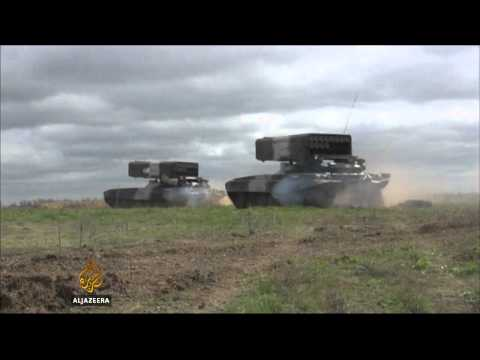 Ukraine helicopter destroyed by rocket fire