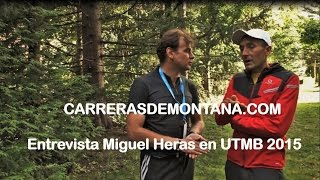 Ultra Trail Mont Blanc 2015 por Miguel Heras, entrevistado por Mayayo en Chamonix