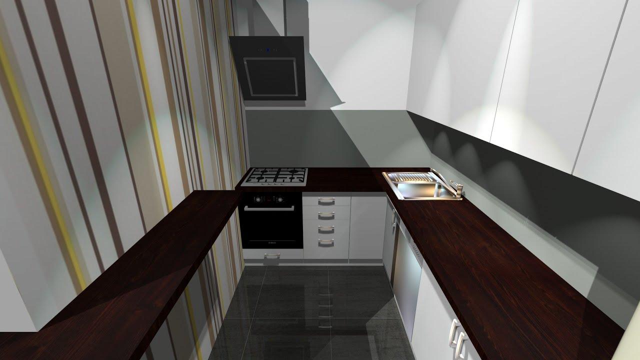 Projekt małej kuchni w bloku  YouTube -> Mala Kuchnia Aranżacje Wnetrz