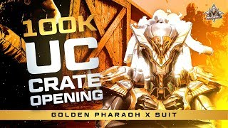 100000 UC LEGENDARY PHARAOH GOLDEN SET MAXED OUT AT 200K LIKES ( SPECIAL FACECAM AT 200K LIKES )