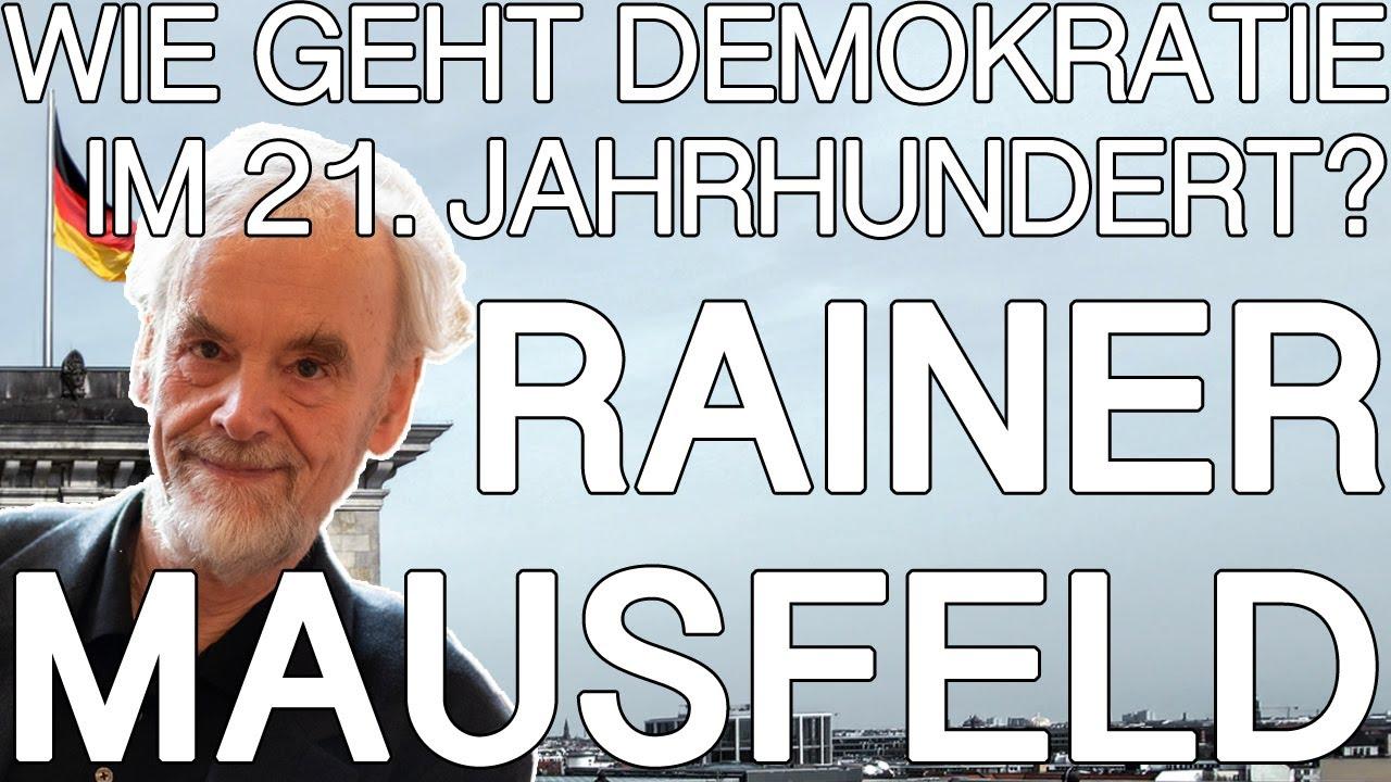 Demokratie Erneuern Rainer Mausfeld Dai Heidelberg 2020 Youtube