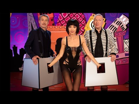 Milo Moiré with Jean Paul Gaultier & Antoine de Caunes on