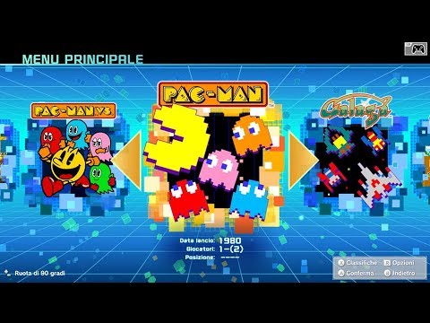 NAMCO MUSEUM (Switch) First 53 Minutes - First Look - All Games of Collection - Gameplay ITA
