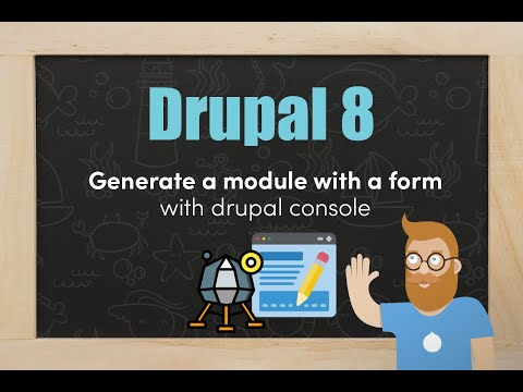 Generating a module and a custom form with Drupal Console thumbnail