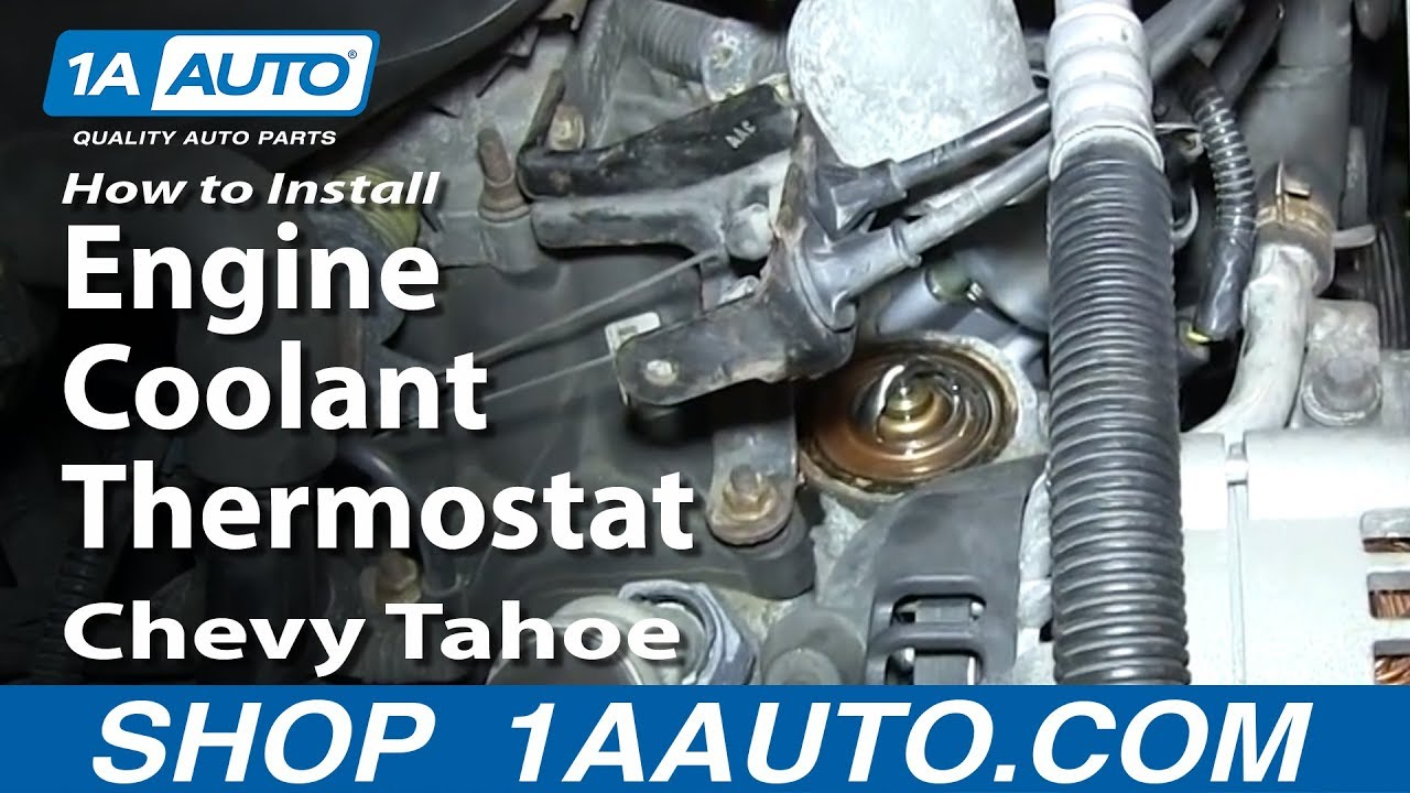how to install replace engine coolant thermostat 5 7l 1995 99 chevy rh youtube com