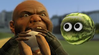 Exposed Watermelon! (gmod Prop Hunt)
