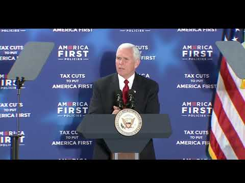 Raw video: Vice President Mike Pence speaks at tax policy event in Manchester