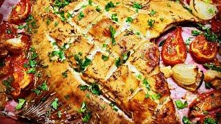 🐠🐟камбала запеченная с травами и овощами🌿 baked flounder with herbs and vegetables