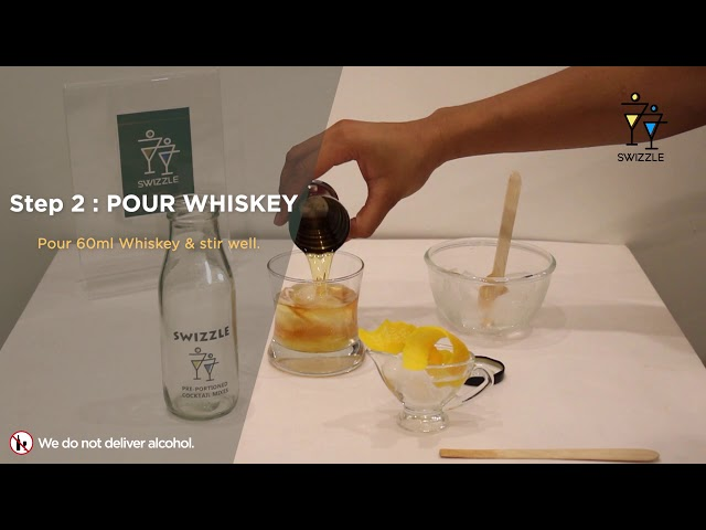 Old fashioned in 3 easy steps using Swizzle Cocktail Kit | Swizzle | Whiskey cocktail