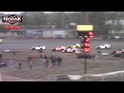 Nodak Speedway IMCA Sport Mod A-Main (6/16/19)