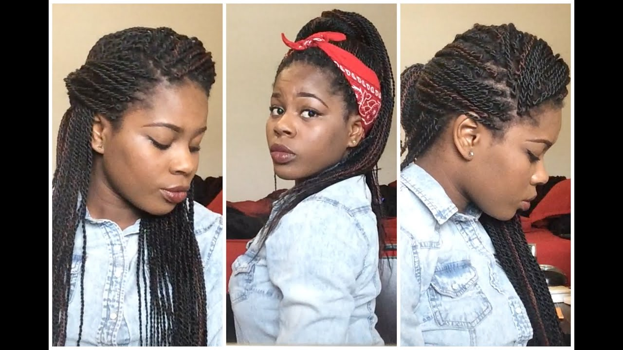 18 Basic Everyday Styles for Senegalese Twists/Box Braids, etc ...