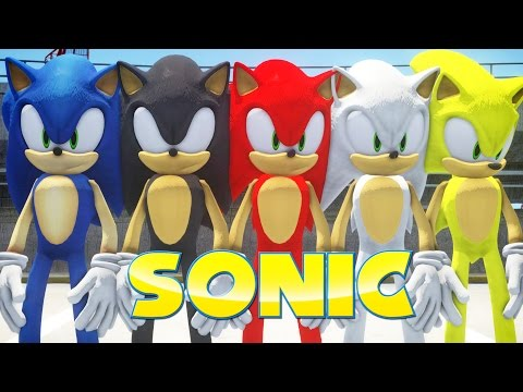 ALL SONIC FORMS IN GRAND THEFT AUTO