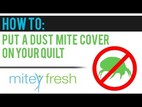 How to put an Allergy Free Dust Mite Cover onto Your Quilt (video 3)
