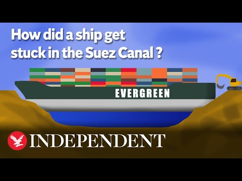 How did a ship get stuck in the Suez Canal?
