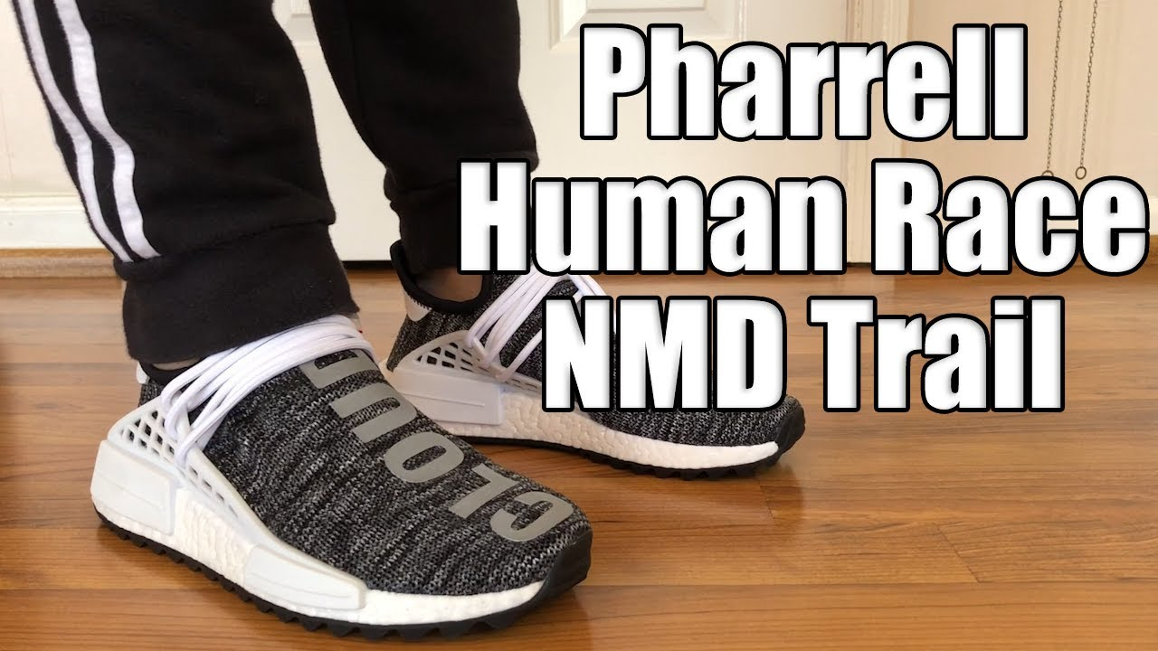 604d63df3 Adidas Pharrell Human Race NMD Trail Oreo Review + On Feet - YouTube