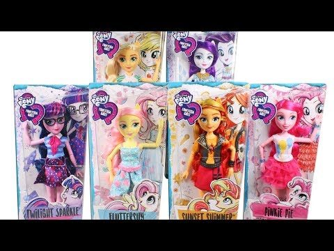 My Little Pony Equestria Girls Dolls Unboxing Toy Review MLP Doll