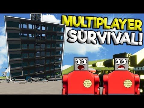 MULTIPLAYER LEGO TOWER SURVIVAL CHALLENGE! - Brick Rigs Gameplay - Lego City Building Destruction