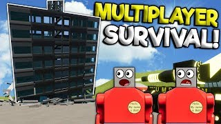 MULTIPLAYER LEGO TOWER SURVIVAL CHALLENGE! - Brick Rigs Gameplay - Lego City Building Destruction