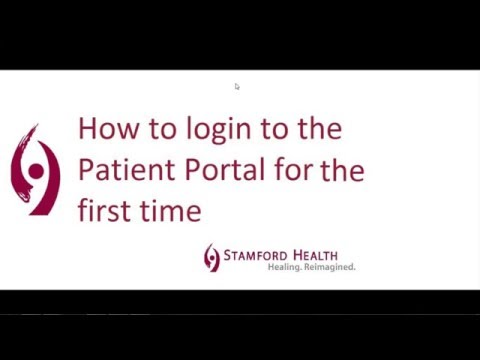 Stamford Health Medical Group - Patient Portal Login For The First Time