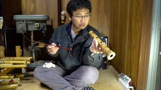It Takes over 10 years to Make the Amazing Long Bamboo Flutes.