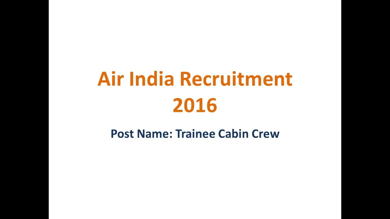 Air India Recruitment Latest Jobs Online Form - YouTube