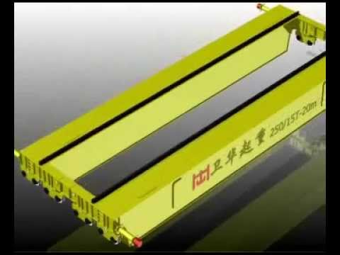 Heavy duty double girder overhead crane  Weihua crane