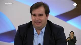 Rodrigo Maia fala sobre o impeachment de Wilson Witzel e o caso de Fabrício Queiroz