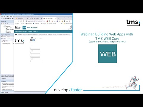 Webinar:  Building Web Applications With TMS WEB Core: Standard UI, HTML Templates, FNC