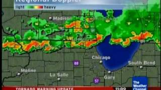 Weather Channel July 22, 2010 Tornado Warning Local Forecast Chicago Suburbs