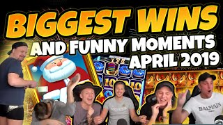 Biggest wins and Funny moments of CasinoDaddy April 2019 (Casino Twitch & Youtube)