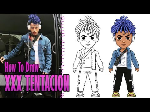 how to draw and coloring xxxtentacion easy step by step