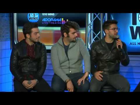 Il Volo on 1010WINS - interview 2016