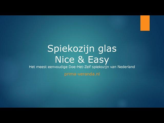 Opmeetinstructie Spiekozijn glas Nice & Easy