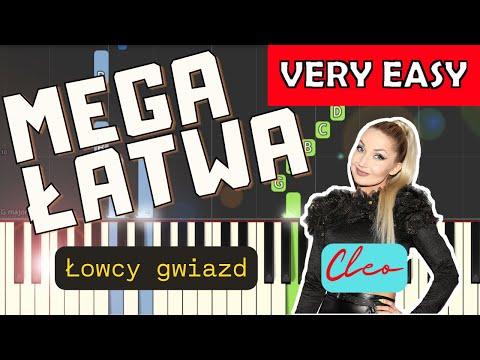 🎹 Łowcy Gwiazd (Cleo) - Piano Tutorial (MEGA ŁATWA wersja) 🎹