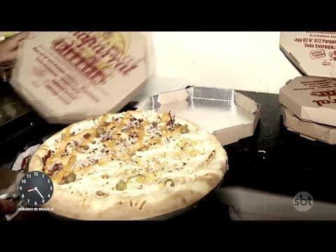 Pizzaria é alvo de ladrão que faz pedidos falsos para roubar pizzas | Primeiro Impacto (07/12/17)
