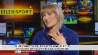 Elise Christie on BBC World News