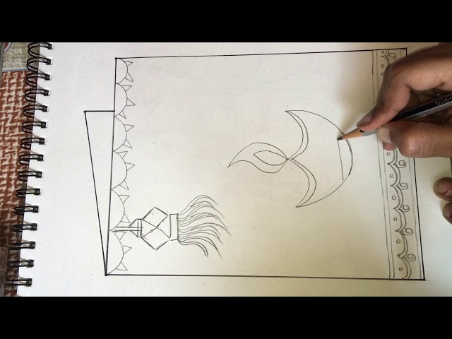 Diwali greeting card drawing| Diwali special|| Happy Diwali to all