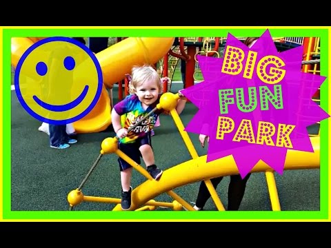 BIG FUN OUTDOOR PARK HUGE SLIDES AND CLIMBING STRUCTURES JUNGLE GYM Kids Family Fun