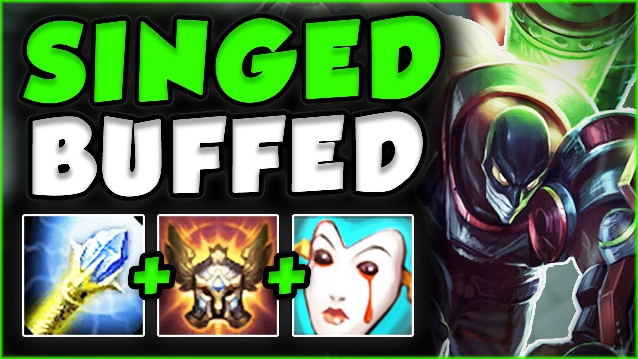 These Singed Buffs Made His Winrate Skyrocket 10 Singed Top Gameplay Season 7 League Of Legends Youtube