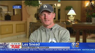 Fire Relief Fund: LA Rams General Manager Les Snead
