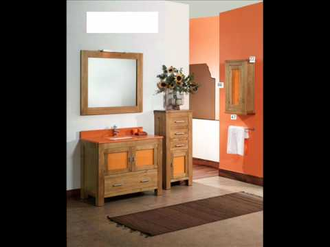 muebles de baño madera maciza rectos.wmv - YouTube